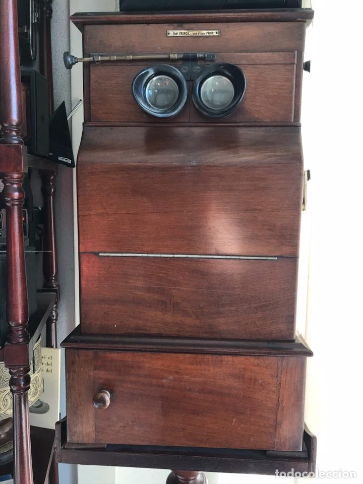 Antigüedades: Visor Estereoscopico con pie y placas de cristal auto classeur stereo 1900 - Foto 17 - 193271421