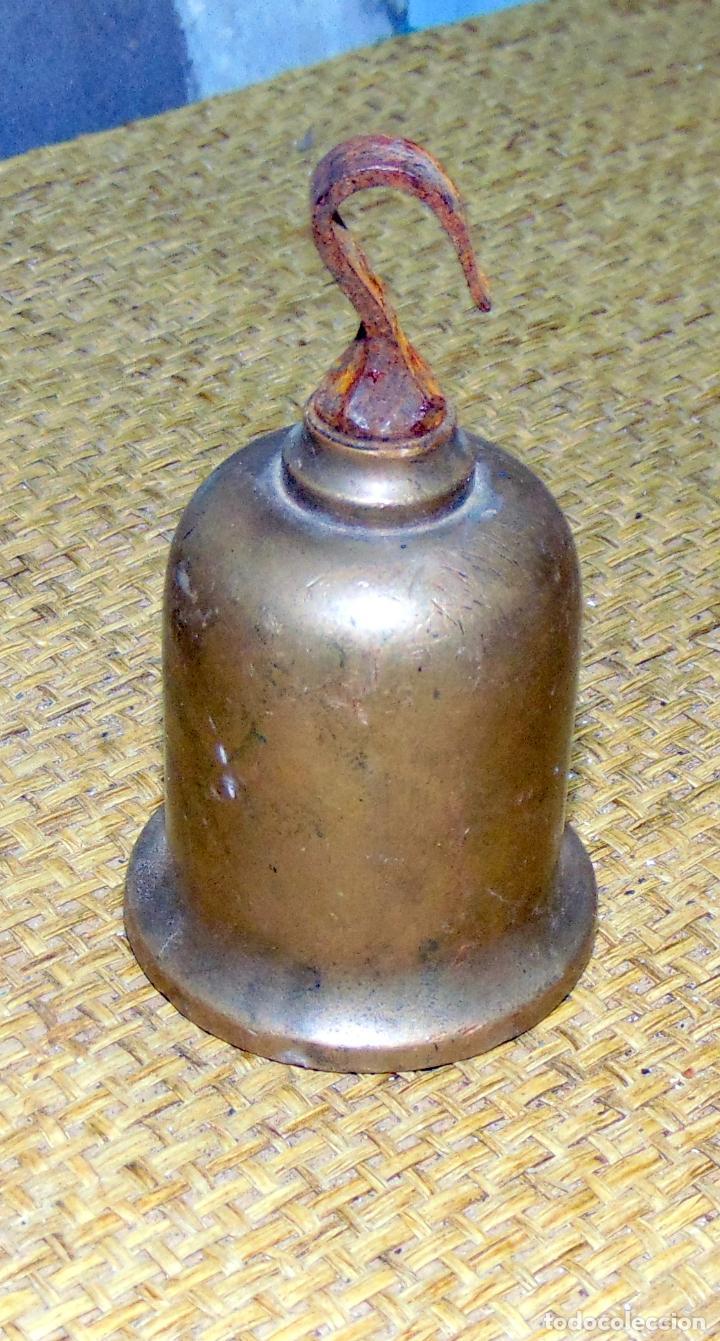 Antigüedades: pesa en bronce y plomo, posiblente de reloj o romana 470 gramos - Foto 3 - 193300553