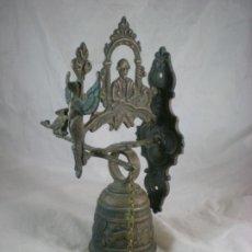 Antigüedades: LLAMADOR CAMPANA DE MONASTERIO BRONCE. Lote 193347637