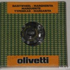 Antigüedades: MARGARITA NUEVA EN SU CAJA ORIGINAL DE OLIVETTI , 12 ELETTO 340 . AÑOS 80. Lote 193398632