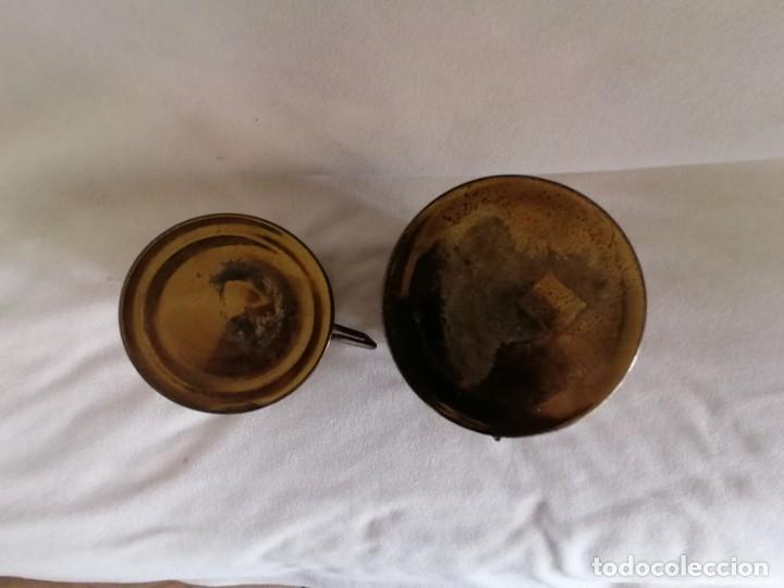 Antigüedades: juego de jarras de latón. - Foto 5 - 193421422