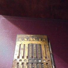 Antigüedades: ANTIGUA CALCULADORA MANUAL , MARCA EXACTA - 11,5X6 CM. SEÑALES DE USO . Lote 193566670
