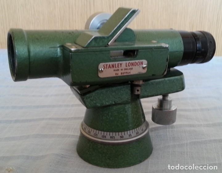 TEODOLITO ANTIGUO. MARCA STANLEY. AÑOS 60. BRITÁNICO. (Antigüedades - Técnicas - Otros Instrumentos Ópticos Antiguos)