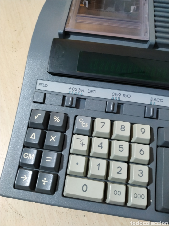 Antigüedades: Calculadora eléctrica Olivetti Logos 384 funcionando - años 80 - Foto 2 - 193571131