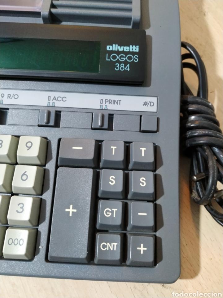 Antigüedades: Calculadora eléctrica Olivetti Logos 384 funcionando - años 80 - Foto 3 - 193571131
