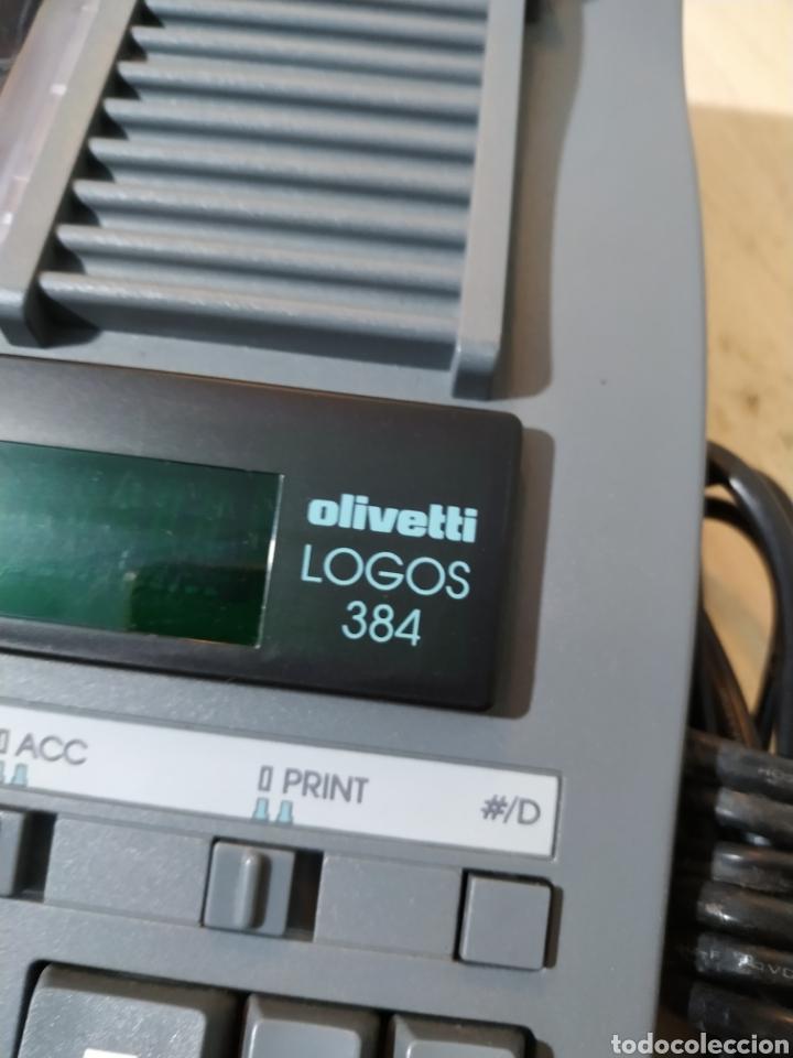 Antigüedades: Calculadora eléctrica Olivetti Logos 384 funcionando - años 80 - Foto 4 - 193571131