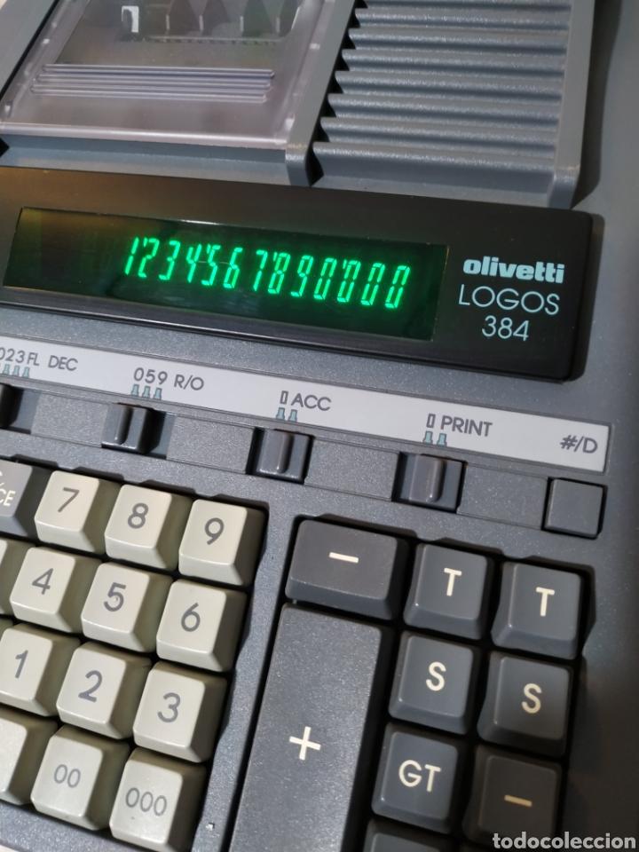 Antigüedades: Calculadora eléctrica Olivetti Logos 384 funcionando - años 80 - Foto 12 - 193571131