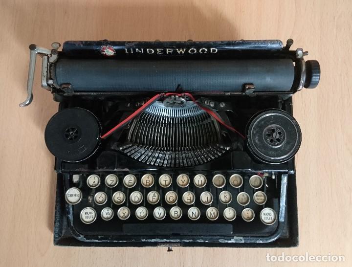 Antigüedades: Máquina escribir UNDERWOOD modelos 3B - Foto 2 - 193615723