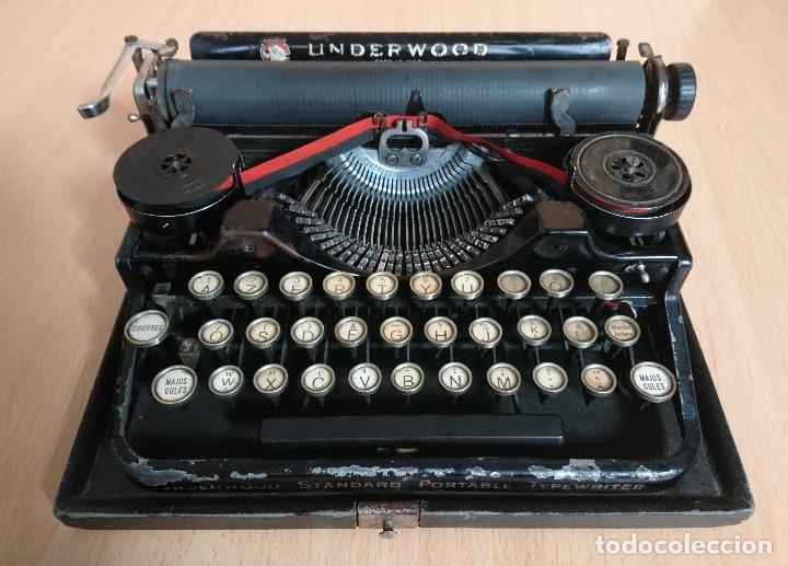 Antigüedades: Máquina escribir UNDERWOOD modelos 3B - Foto 3 - 193615723