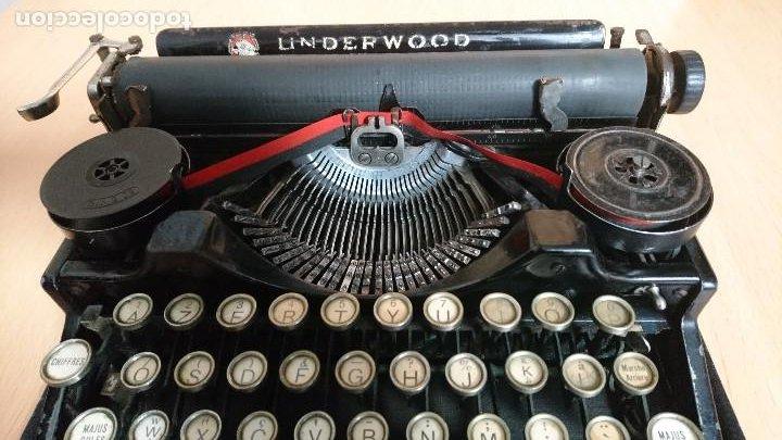 Antigüedades: Máquina escribir UNDERWOOD modelos 3B - Foto 4 - 193615723