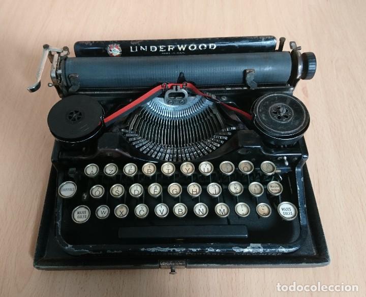 Antigüedades: Máquina escribir UNDERWOOD modelos 3B - Foto 7 - 193615723