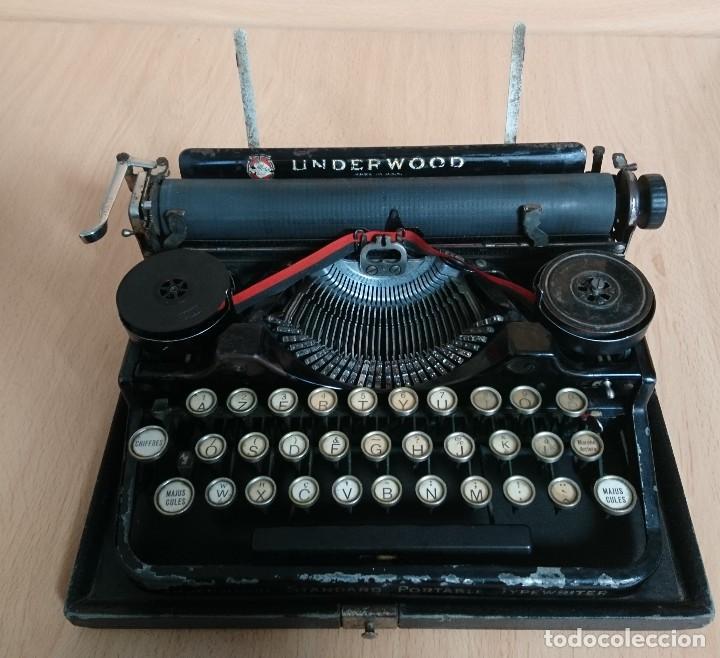 Antigüedades: Máquina escribir UNDERWOOD modelos 3B - Foto 8 - 193615723