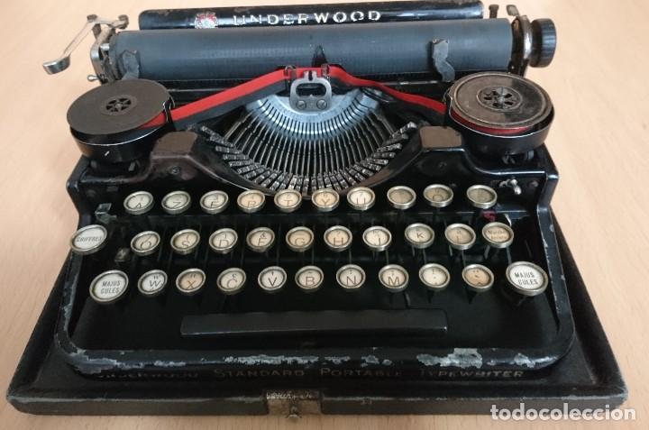 Antigüedades: Máquina escribir UNDERWOOD modelos 3B - Foto 19 - 193615723