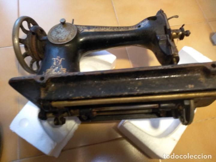 Antigüedades: Antigua maquina de coser Singer F7378770 de 1917 DECORACION ANTIGUO EGIPTO - Foto 8 - 193620631