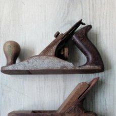 Antigüedades: 2 ANTIGUAS GARLOPAS DE CARPINTERO. Lote 193621107