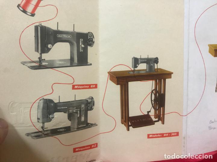Antigüedades: antiguo catálogo maquinas para coser y bordar wertheim, dif. modelos y muebles, desplegable 8 hojas - Foto 5 - 193648111