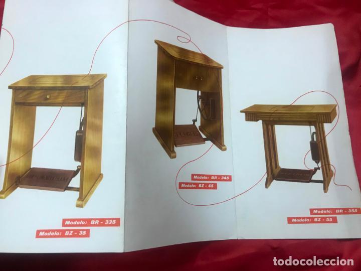 Antigüedades: antiguo catálogo maquinas para coser y bordar wertheim, dif. modelos y muebles, desplegable 8 hojas - Foto 8 - 193648111