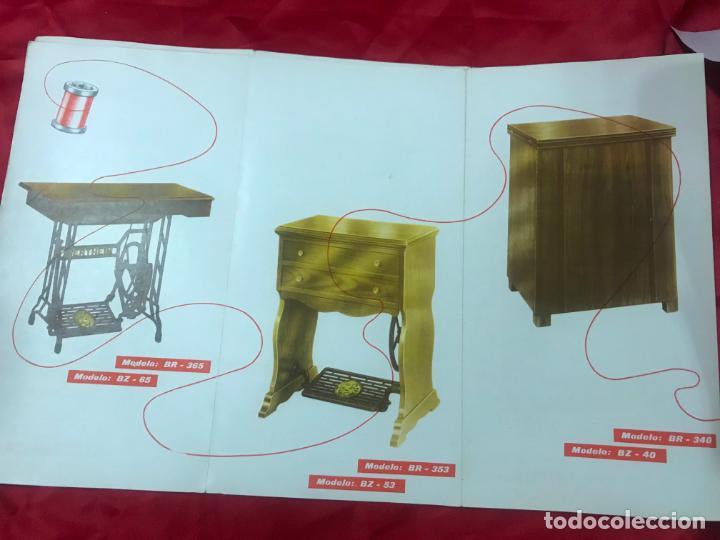 Antigüedades: antiguo catálogo maquinas para coser y bordar wertheim, dif. modelos y muebles, desplegable 8 hojas - Foto 9 - 193648111