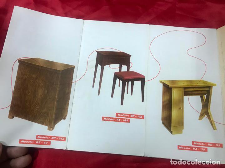 Antigüedades: antiguo catálogo maquinas para coser y bordar wertheim, dif. modelos y muebles, desplegable 8 hojas - Foto 10 - 193648111