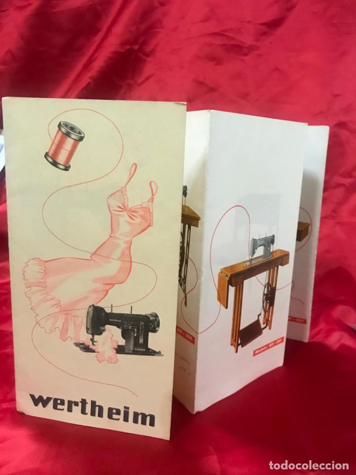 ANTIGUO CATÁLOGO MAQUINAS PARA COSER Y BORDAR WERTHEIM, DIF. MODELOS Y MUEBLES, DESPLEGABLE 8 HOJAS (Antigüedades - Técnicas - Máquinas de Coser Antiguas - Wertheim )