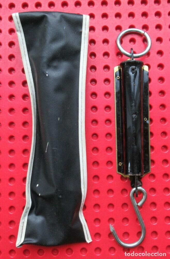 Antigüedades: Antigua bascula de muelle alemana. Pocket Balance. Made in Germany. Hata 25 kilos con su estuche - Foto 2 - 193694371