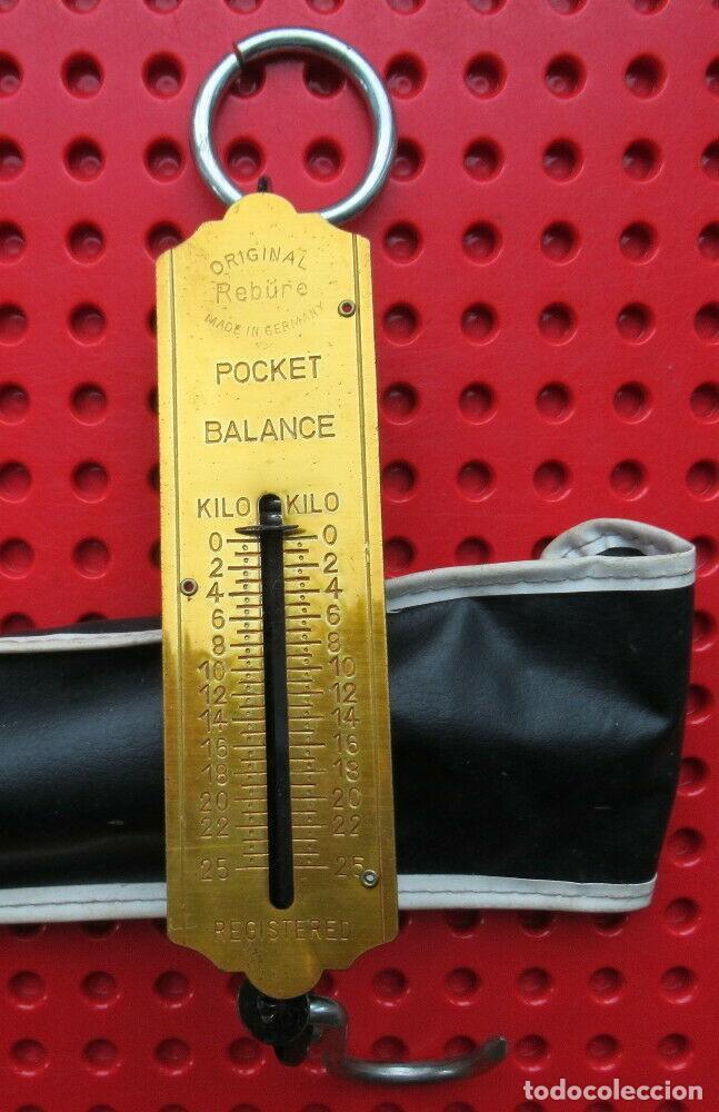 Antigüedades: Antigua bascula de muelle alemana. Pocket Balance. Made in Germany. Hata 25 kilos con su estuche - Foto 3 - 193694371
