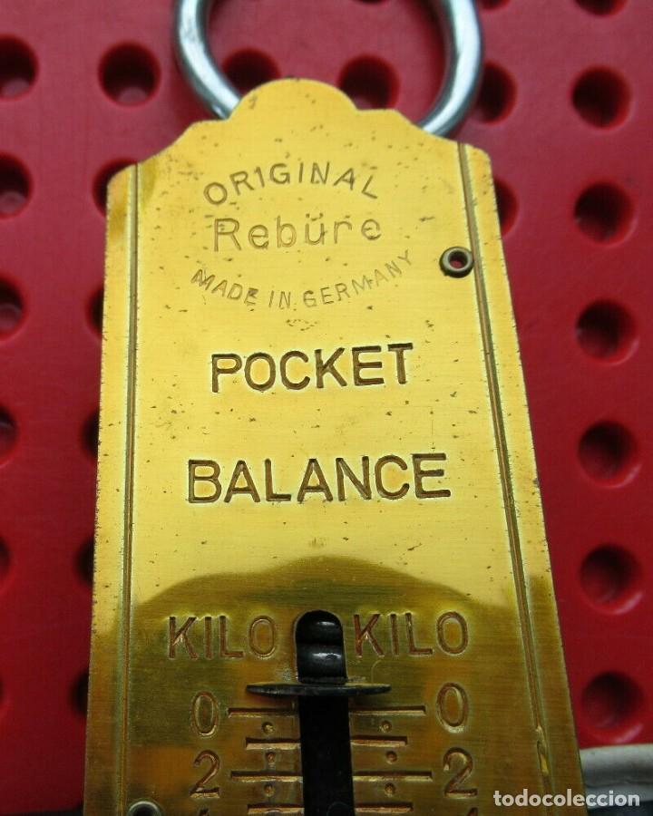 Antigüedades: Antigua bascula de muelle alemana. Pocket Balance. Made in Germany. Hata 25 kilos con su estuche - Foto 4 - 193694371