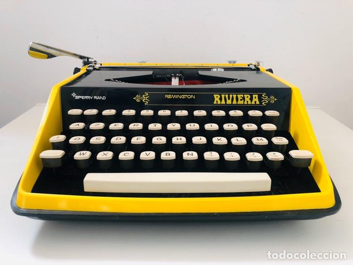 Antigüedades: Remington Riviera 1969 Typewriter - Foto 3 - 193714686