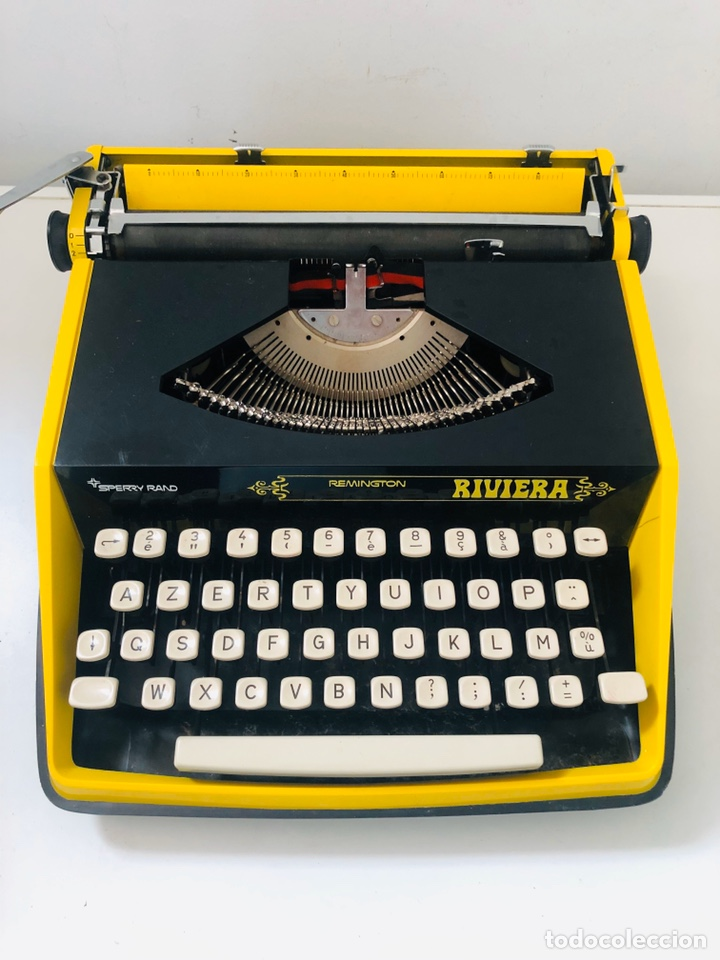 Antigüedades: Remington Riviera 1969 Typewriter - Foto 4 - 193714686