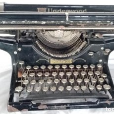 Antigüedades: MAQUINA ESCRIBIR UNDERWOOD CARRO ANCHO (MADE IN USA) 1900. Lote 193715306