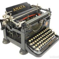 Antigüedades: MAQUINA DE ESCRIBIR RARA: AMATA AÑO 1923 AUSTRIA TYPEWRITER SCHREIBMASCHINE. Lote 193856300