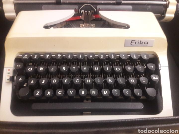 Antigüedades: maquina de escritura erika - Foto 3 - 193860227