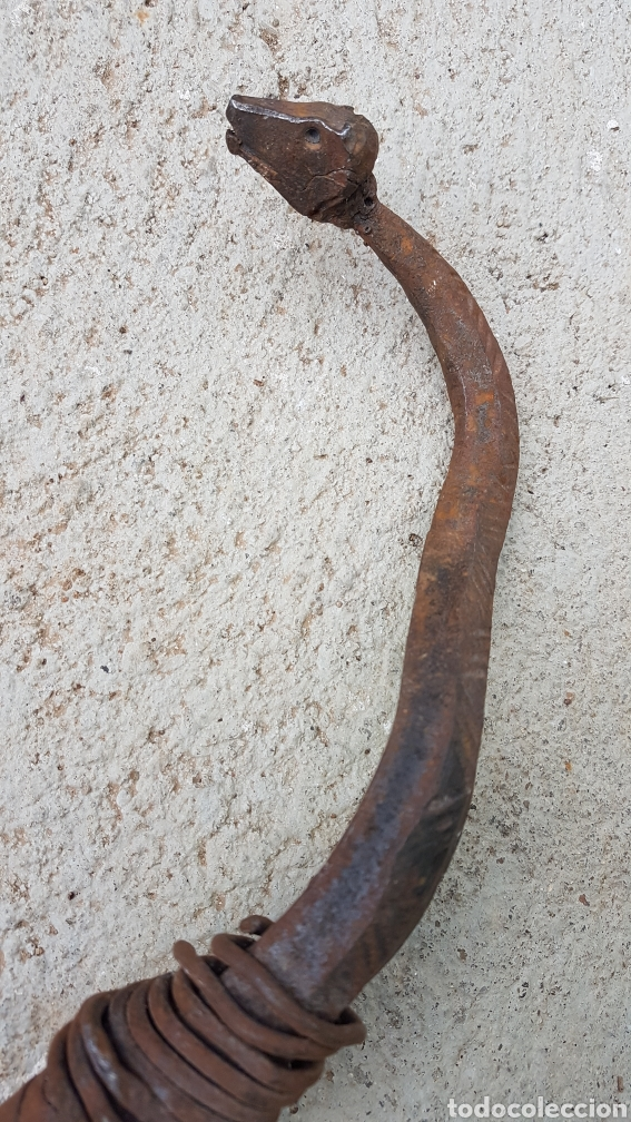 Antigüedades: Culebra serpiente hecha a forja - Foto 4 - 193891188
