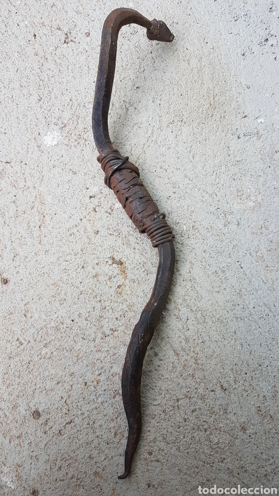 Antigüedades: Culebra serpiente hecha a forja - Foto 5 - 193891188