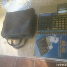 Antiguidades: CALCULADORA HEWLETT PACKARD HP-91 CON MANUAL Y FUNDA.. Lote 193899405