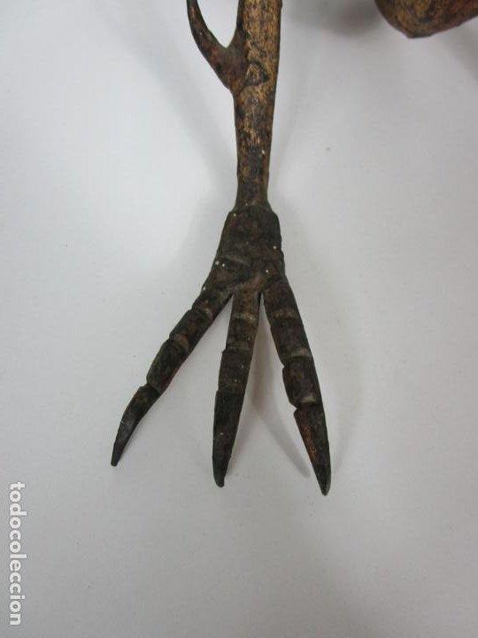 Antigüedades: Preciosa Pareja de Morillos - Dragones - Hierro Forjado y Dorado - Principios S. XX - Foto 3 - 193937798