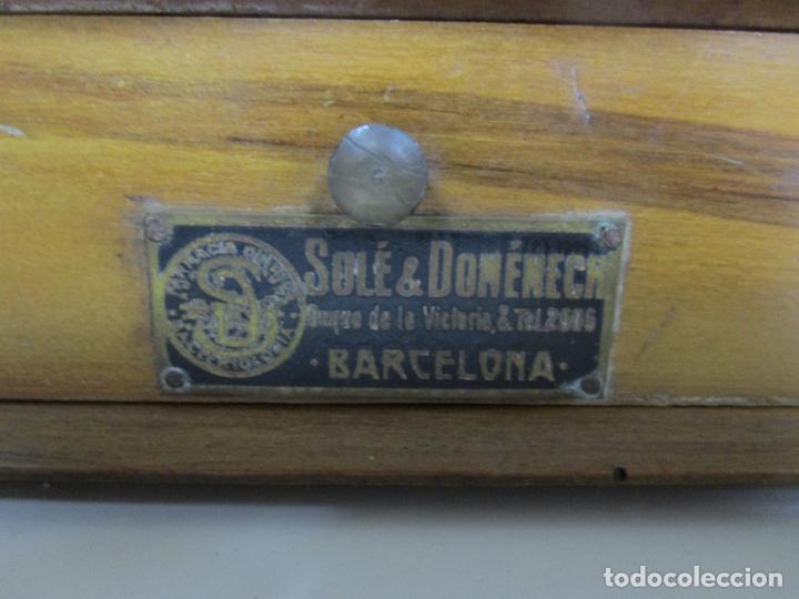 Antigüedades: Antigua Balanza de Joyero Chapa Soler & Domenech, Barcelona - con Pesas y Instrucciones - Foto 4 - 193942041
