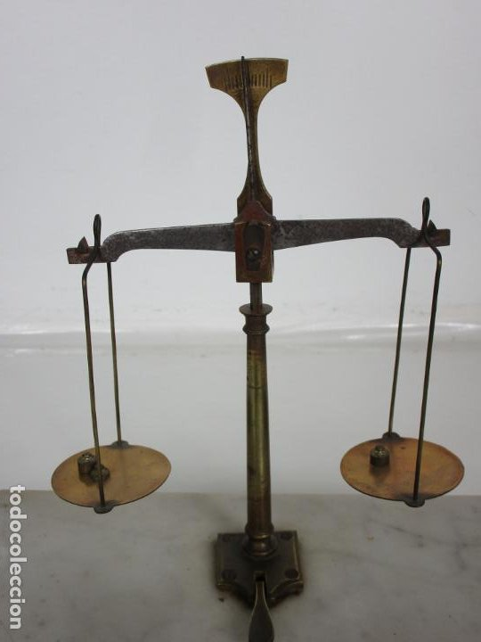 Antigüedades: Antigua Balanza de Joyero Chapa Soler & Domenech, Barcelona - con Pesas y Instrucciones - Foto 6 - 193942041