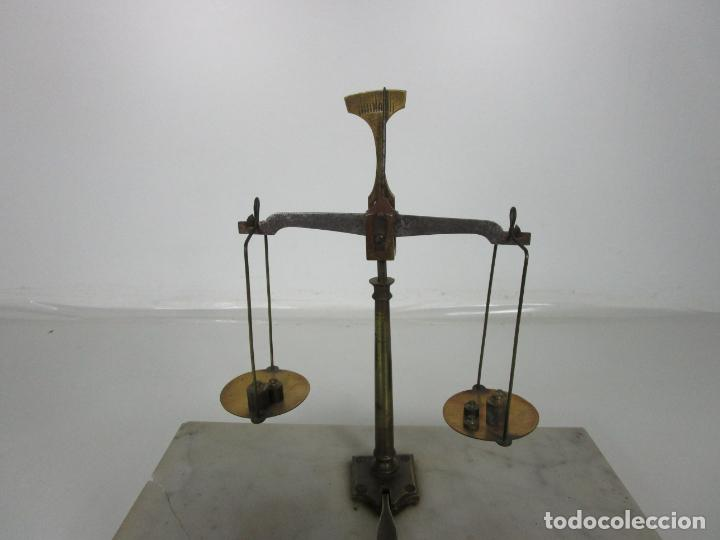 Antigüedades: Antigua Balanza de Joyero Chapa Soler & Domenech, Barcelona - con Pesas y Instrucciones - Foto 8 - 193942041
