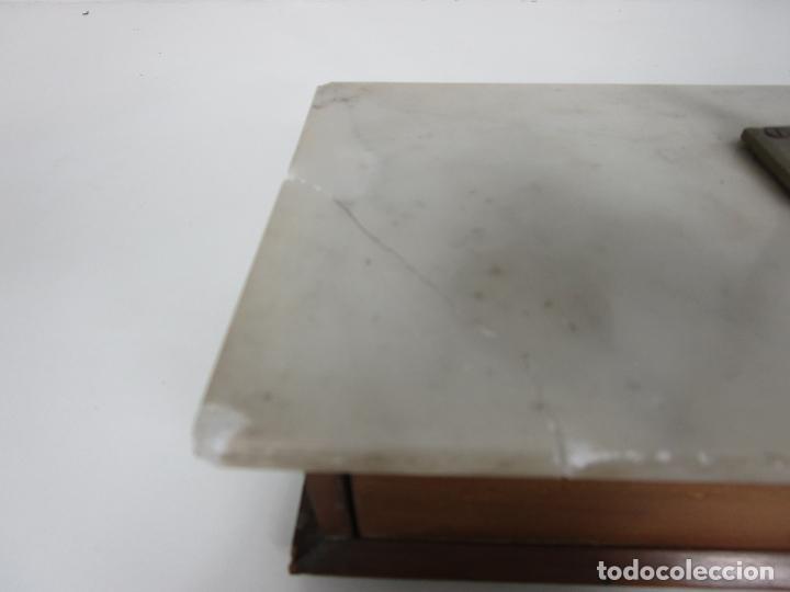 Antigüedades: Antigua Balanza de Joyero Chapa Soler & Domenech, Barcelona - con Pesas y Instrucciones - Foto 10 - 193942041