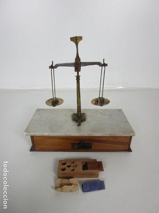Antigüedades: Antigua Balanza de Joyero Chapa Soler & Domenech, Barcelona - con Pesas y Instrucciones - Foto 19 - 193942041