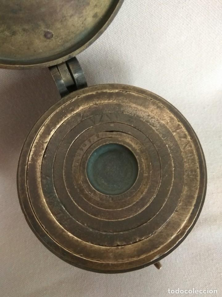 Antigüedades: PONDERAL DE VASOS ANIDADOS DE 2 LIBRAS, SIGLO XIX - Foto 3 - 193946192