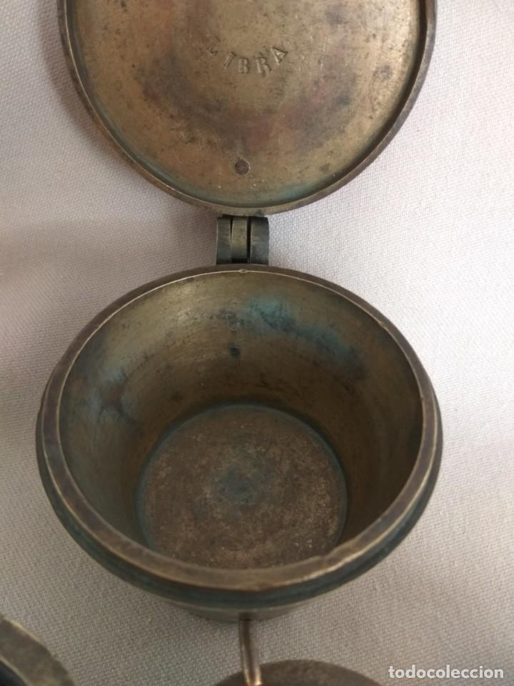 Antigüedades: PONDERAL DE VASOS ANIDADOS DE 2 LIBRAS, SIGLO XIX - Foto 13 - 193946192
