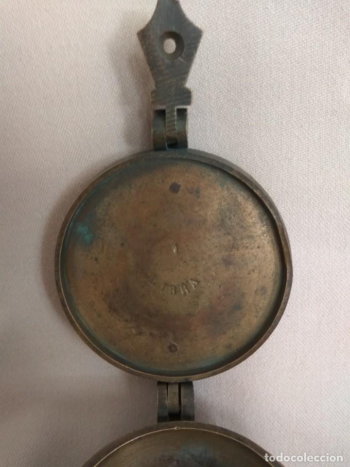 Antigüedades: PONDERAL DE VASOS ANIDADOS DE 2 LIBRAS, SIGLO XIX - Foto 14 - 193946192