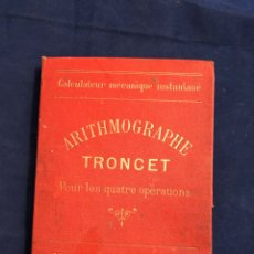 Antigüedades: ARITHMOGRAPHE TRONCET - ANTIGUA CALCULADORA DE BOLSILLO. Lote 193950585