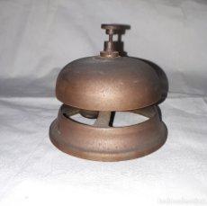 Antigüedades: ANTIGUO TIMBRE - LLAMADOR DE HOTEL O COMERCIO EN BRONCE.. Lote 193965426