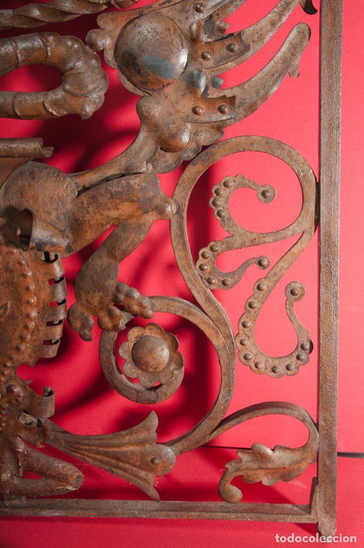 Antigüedades: EXTRAORDINARIA PIEZA DE MUSEO - PUERTA EN HIERRO FORJADO, CIRCA 1800 - Foto 7 - 194007891