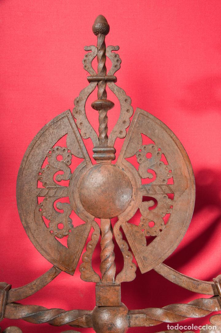 Antigüedades: EXTRAORDINARIA PIEZA DE MUSEO - PUERTA EN HIERRO FORJADO, CIRCA 1800 - Foto 9 - 194007891