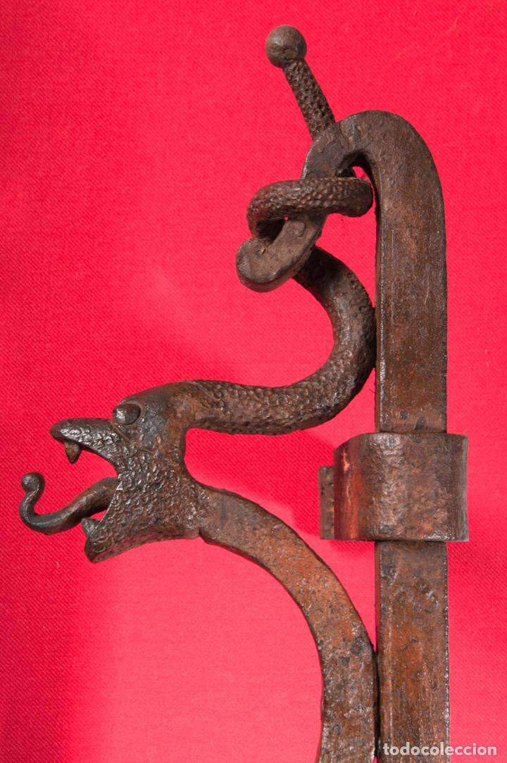 Antigüedades: EXTRAORDINARIA PIEZA DE MUSEO - PUERTA EN HIERRO FORJADO, CIRCA 1800 - Foto 16 - 194007891