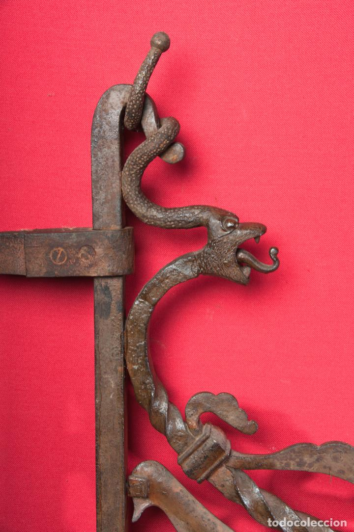 Antigüedades: EXTRAORDINARIA PIEZA DE MUSEO - PUERTA EN HIERRO FORJADO, CIRCA 1800 - Foto 21 - 194007891
